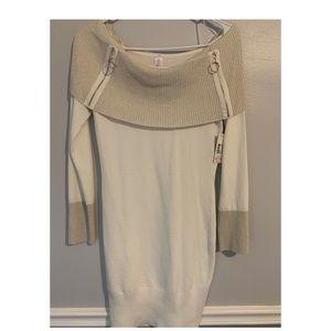 Fitting cream color dress